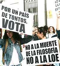 Filósofos, contra la Ley de Educación de Zapatero