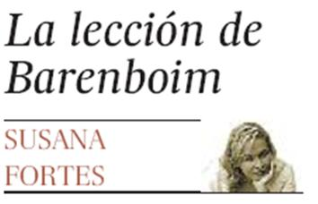 LA LECCIÓN DE BARENBOIM