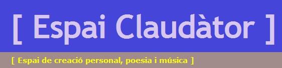 EXCELENTE PÁGINA DE POESÍA: ESPAI GLAUDATOR